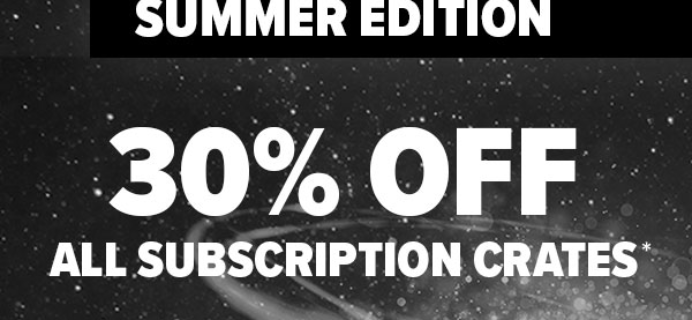 Loot Crate 30% Off Coupon: ALL CRATES, ALL SUBSCRIPTIONS, TODAY ONLY!