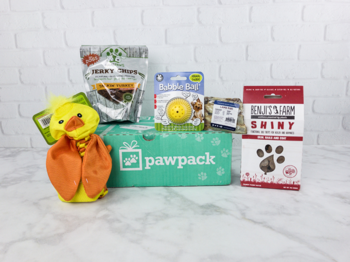 Pawpack Dog Subscription Box Review Coupon June 2017