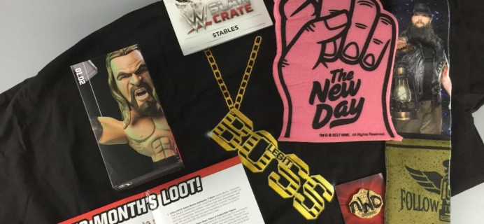 WWE Slam Crate June/July 2017 Subscription Box Review + Coupons