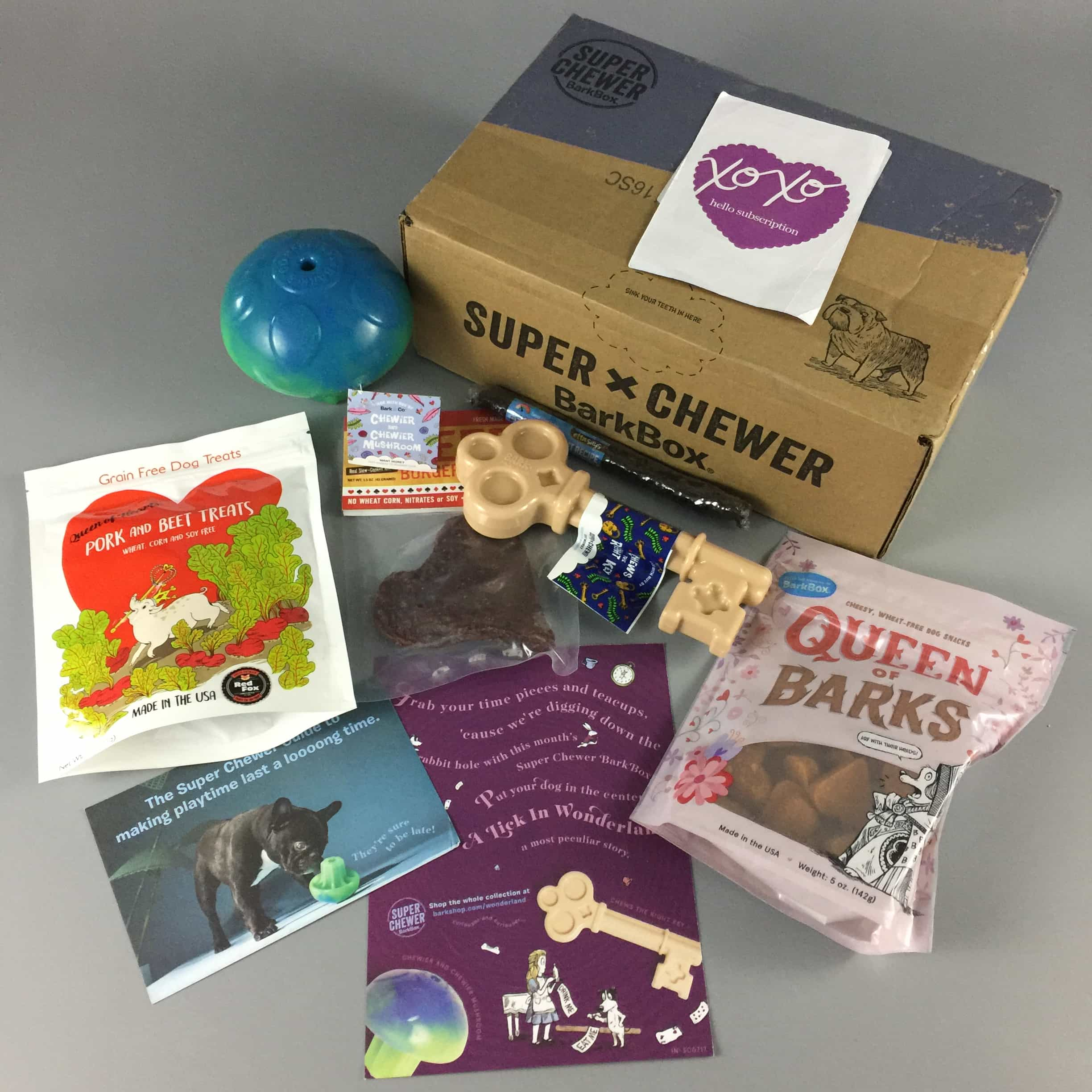 Barkbox July 2017 Subscription Box Review – Super Chewer