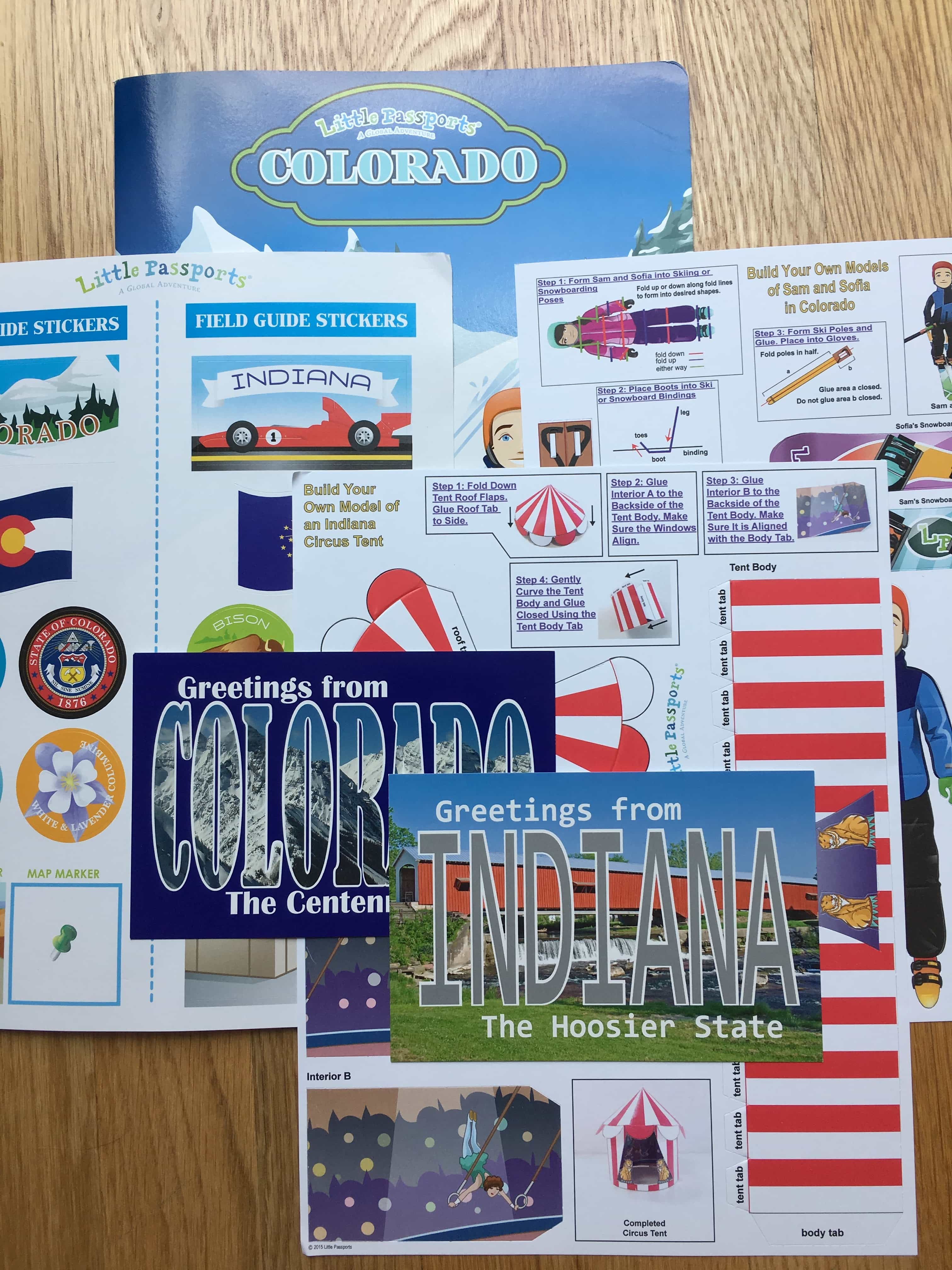 Little Passports USA Subscription Box Review + Coupon – Colorado and Indiana