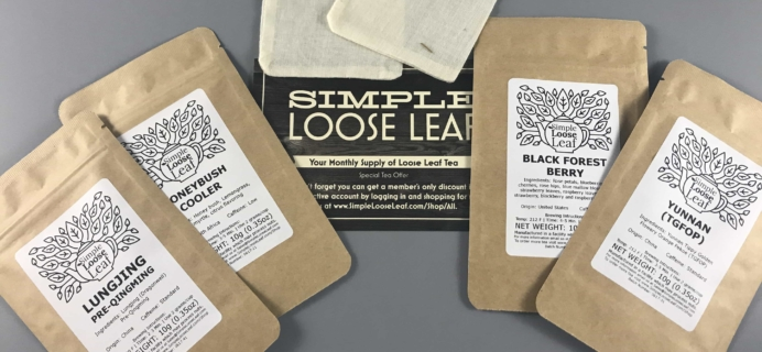 Simple Loose Leaf Tea July 2017 Subscription Box Review
