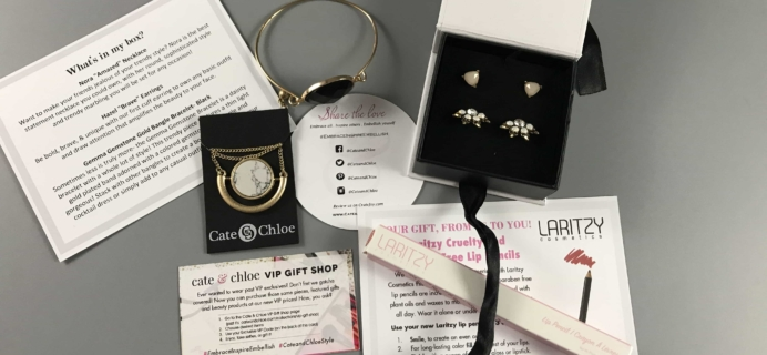 Cate & Chloe VIP August 2017 Subscription Box Review + Coupon