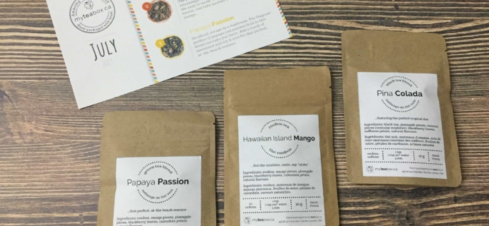 MyTeaBox July 2017 Subscription Box Review