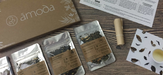 Amoda Tea July 2017 Subscription Box Review + Coupon!