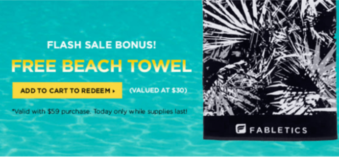 Today Only! Fabletics Flash Sale: 40% Off + Free Beach Towel!