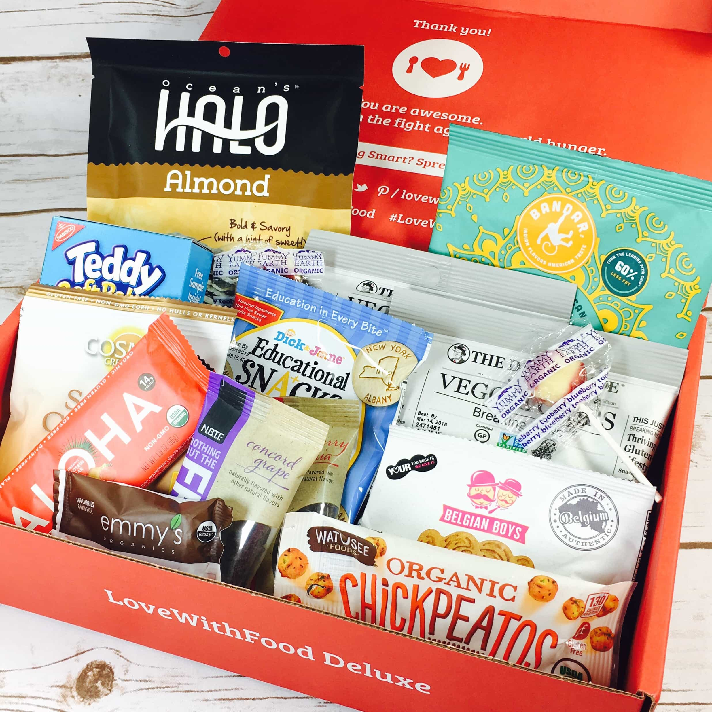 Love With Food July 2017 Deluxe Box Review + Coupon