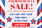 Cozy Reader Club July 4th Coupon – 20% Off First Box!