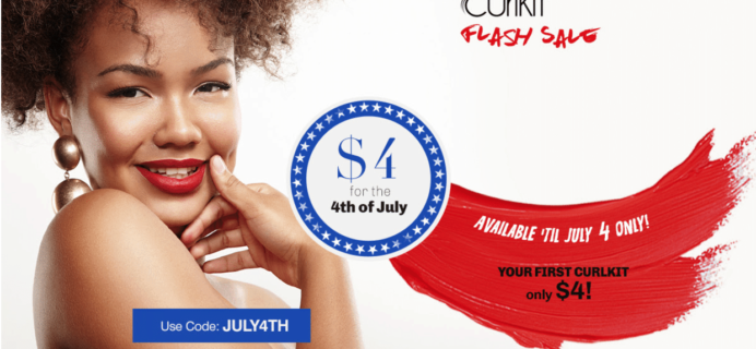 CurlKit 4th of July Coupon: First Box $4!!