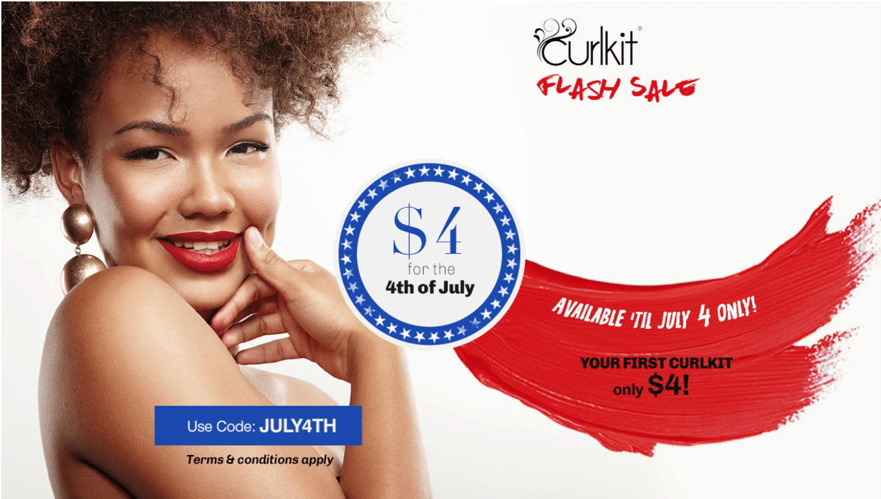 CurlKit 4th of July Coupon: First Box $4!! Extended!