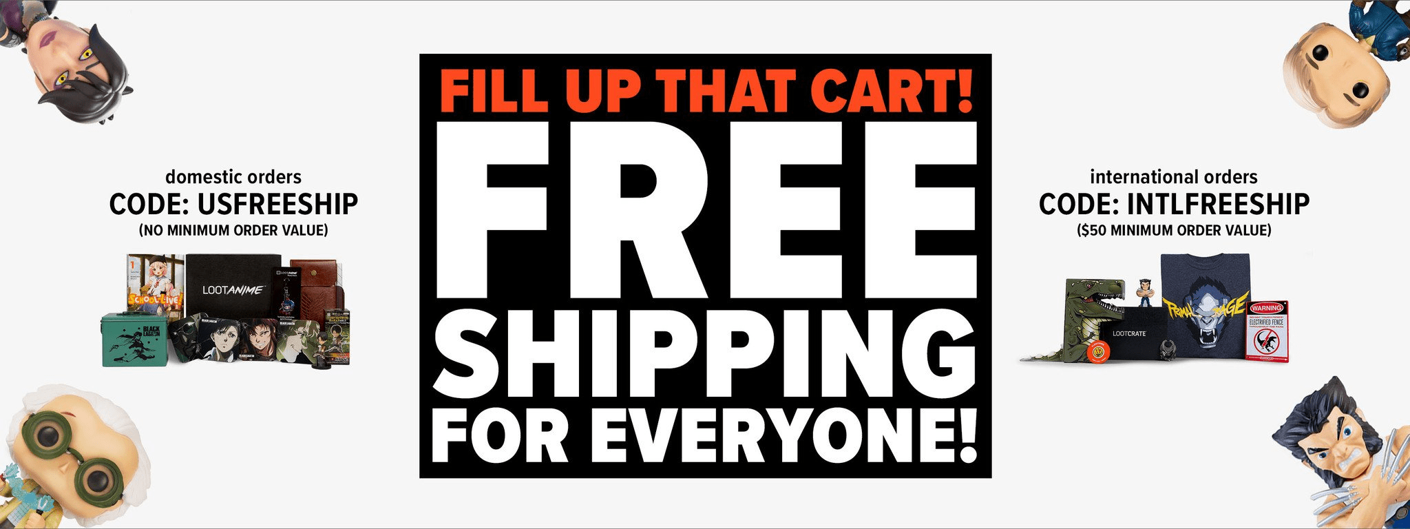 Loot Vault Flash Deal: FREE Shipping On All Orders!