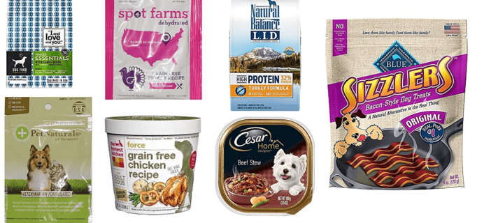 New Amazon Prime FREE After Credit Dog Food & Treats Sample Box!