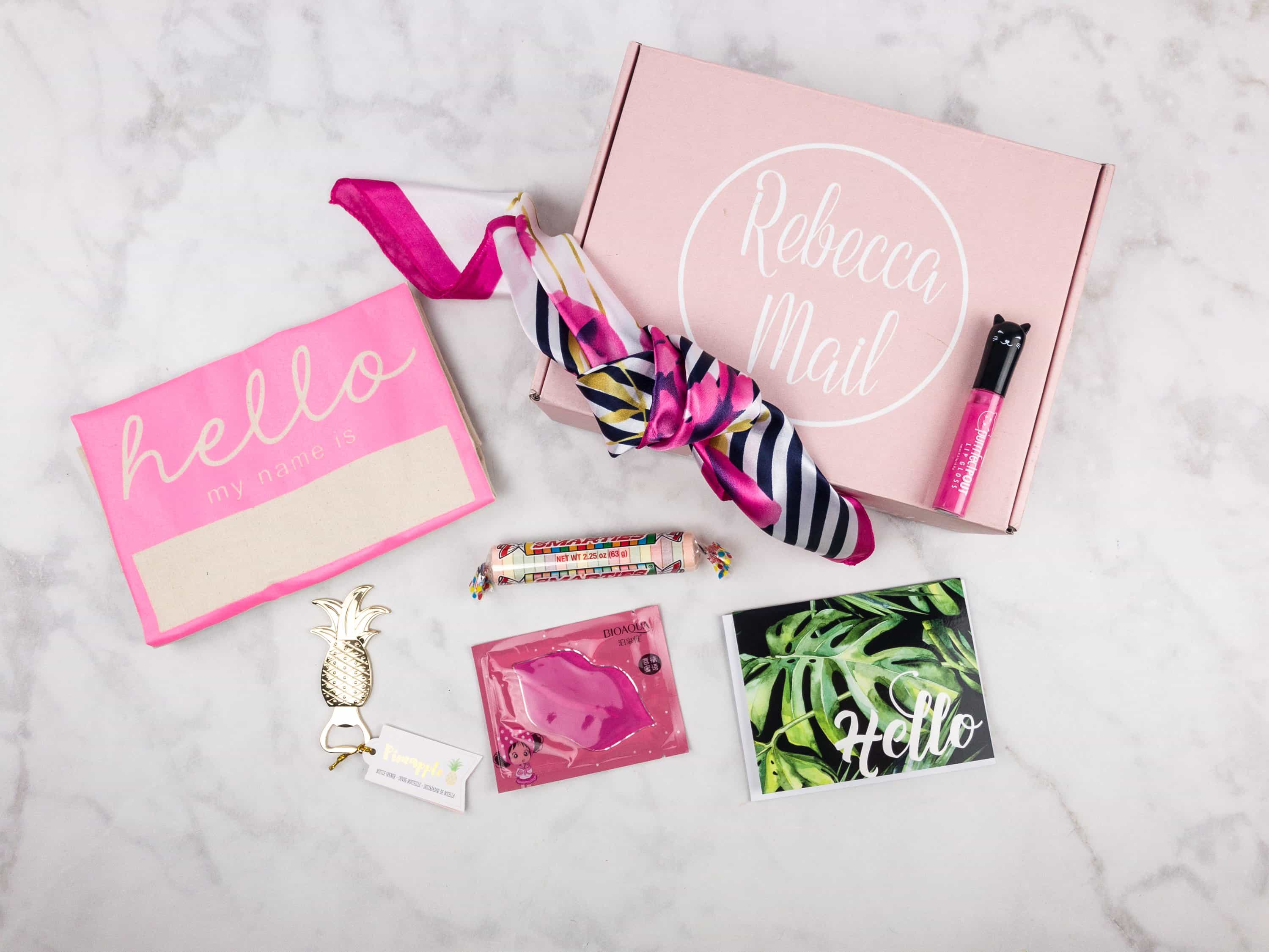 Rebecca Mail July 2017 Subscription Box Review