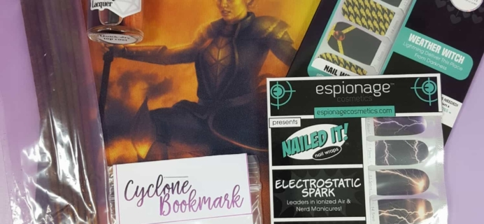 August 2017 BOOM!Box by Espionage Cosmetics Subscription Box Review + Coupon