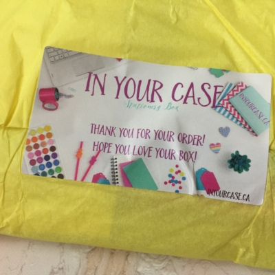 In Your Case Stationery Box August 2017 Subscription Box Review + Coupon