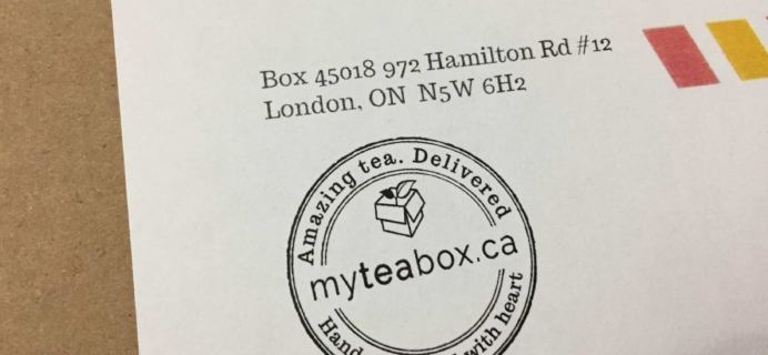 MyTeaBox August 2017 Subscription Box Review