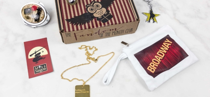 Fandom of the Month Club August 2017 Subscription Box Review & Coupon