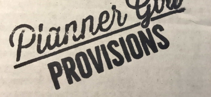 Planner Girl Provisions August 2017 Subscription Box Review