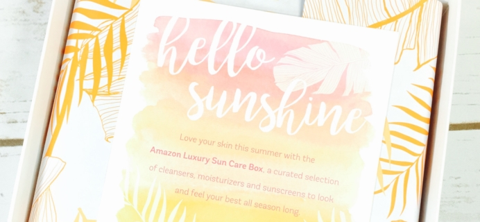 Amazon Luxury Sun Care Sample Box Review August 2017