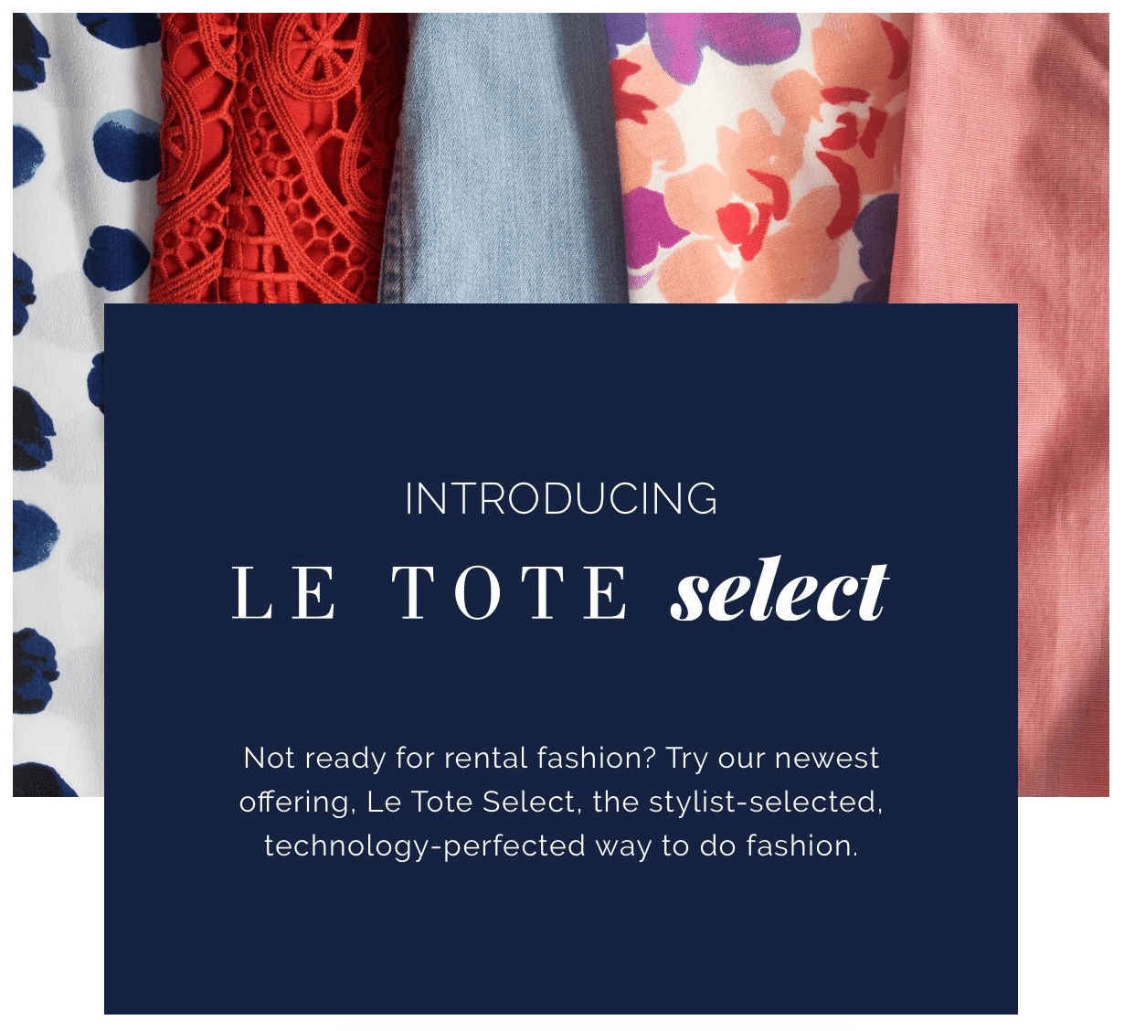 Le Tote Select Coupon: Get $10 Credit!