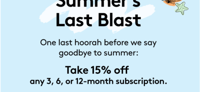 Birchbox Labor Day Sale: Save 15% on ALL Prepaid Subscriptions!