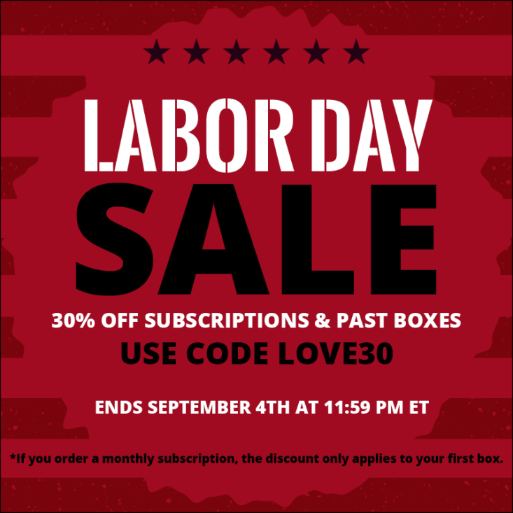 Cocotique Labor Day Sale – 30% off all Subscriptions!