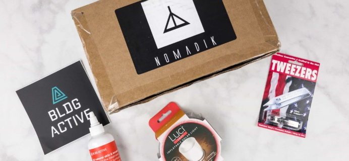 Nomadik August 2017 Subscription Box Review + Coupon