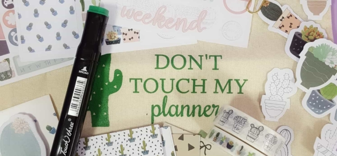 The Planner Addict Box August 2017 Subscription Box Review
