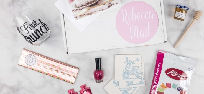 Rebecca Mail August 2017 Subscription Box Review