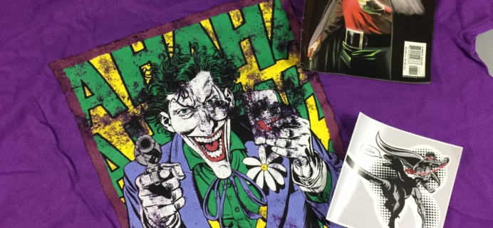 TeeBlox August 2017 Subscription Box Review & Coupon – DC Comics