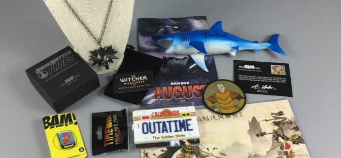 The BAM! Box August 2017 Subscription Box Review & Coupon
