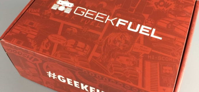 Geek Fuel September 2017 Subscription Box Review + Coupon!