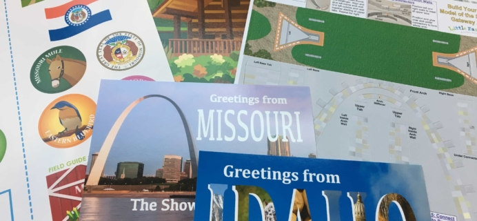 September 2017 Little Passports USA Subscription Box Review + Coupon – Missouri and Idaho