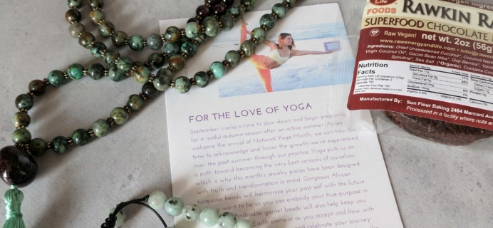 Yogi Surprise Jewelry Box Subscription Review – September 2017