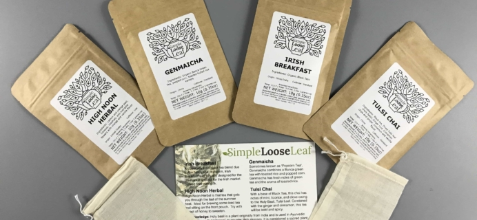 Simple Loose Leaf Tea September 2017 Subscription Box Review