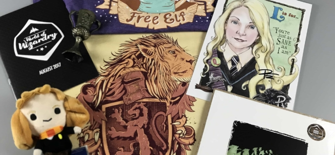 Geek Gear World of Wizardry August 2017 Subscription Box Review