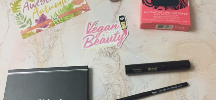 Vegan Cuts Makeup Box Fall 2017 Subscription Box Review