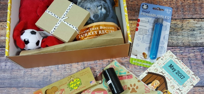 Wigglebutt Box Dog Subscription Box Review – May 2017