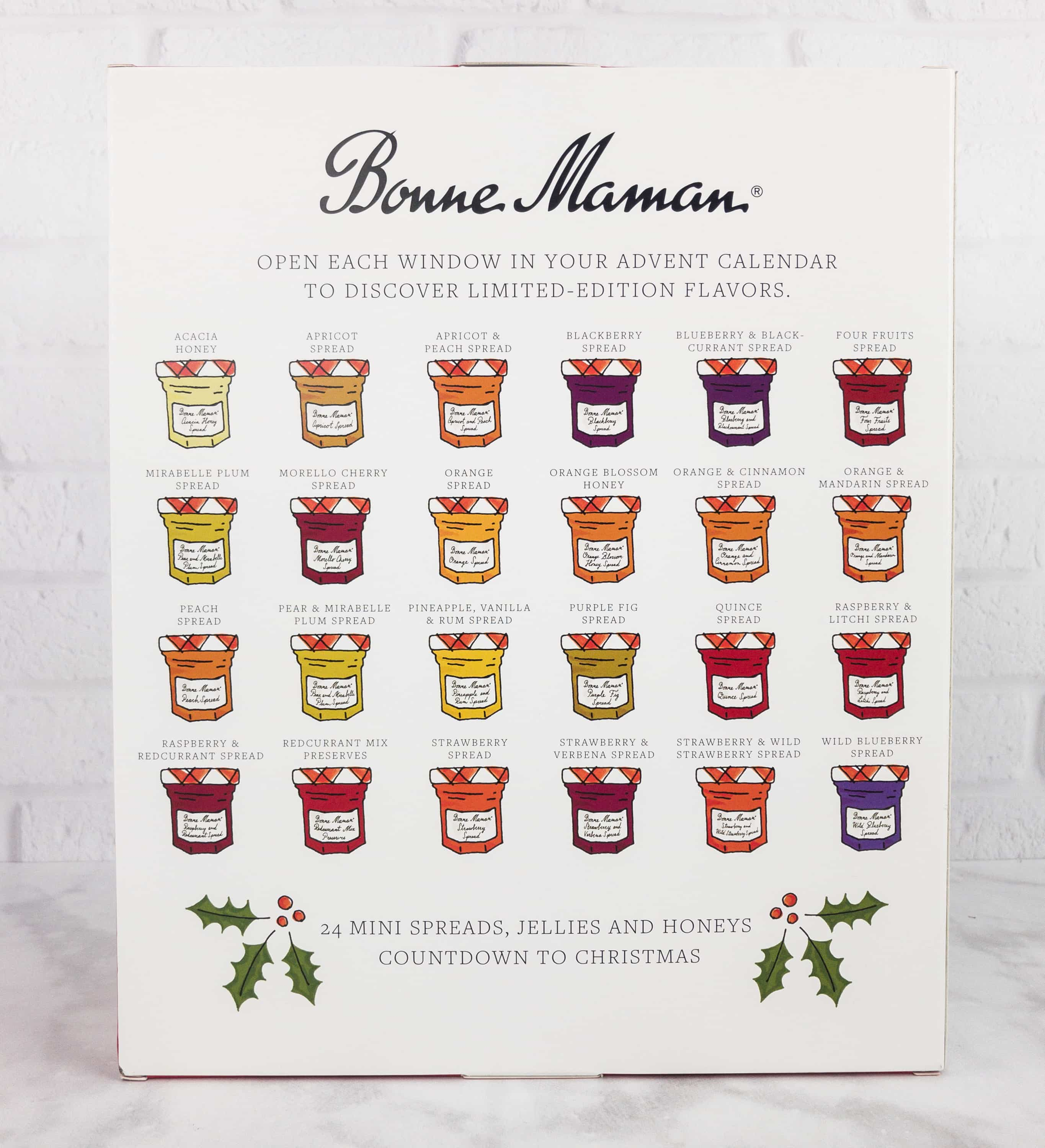bonne maman advent calendar mini review 2017 hello subscription