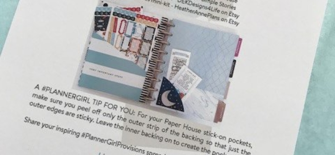 Planner Girl Provisions September 2017 Subscription Box Review