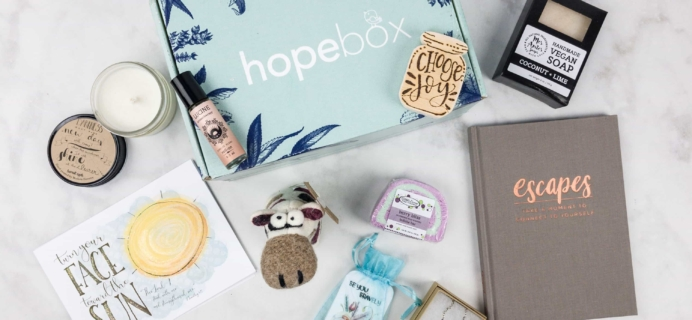 Hopebox September 2017 Subscription Box Review