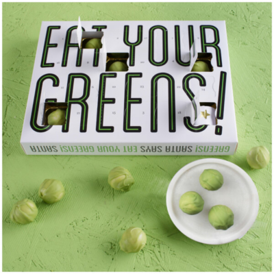 Eat Your Greens Chocolate Sprout Advent Calendar Available Now!