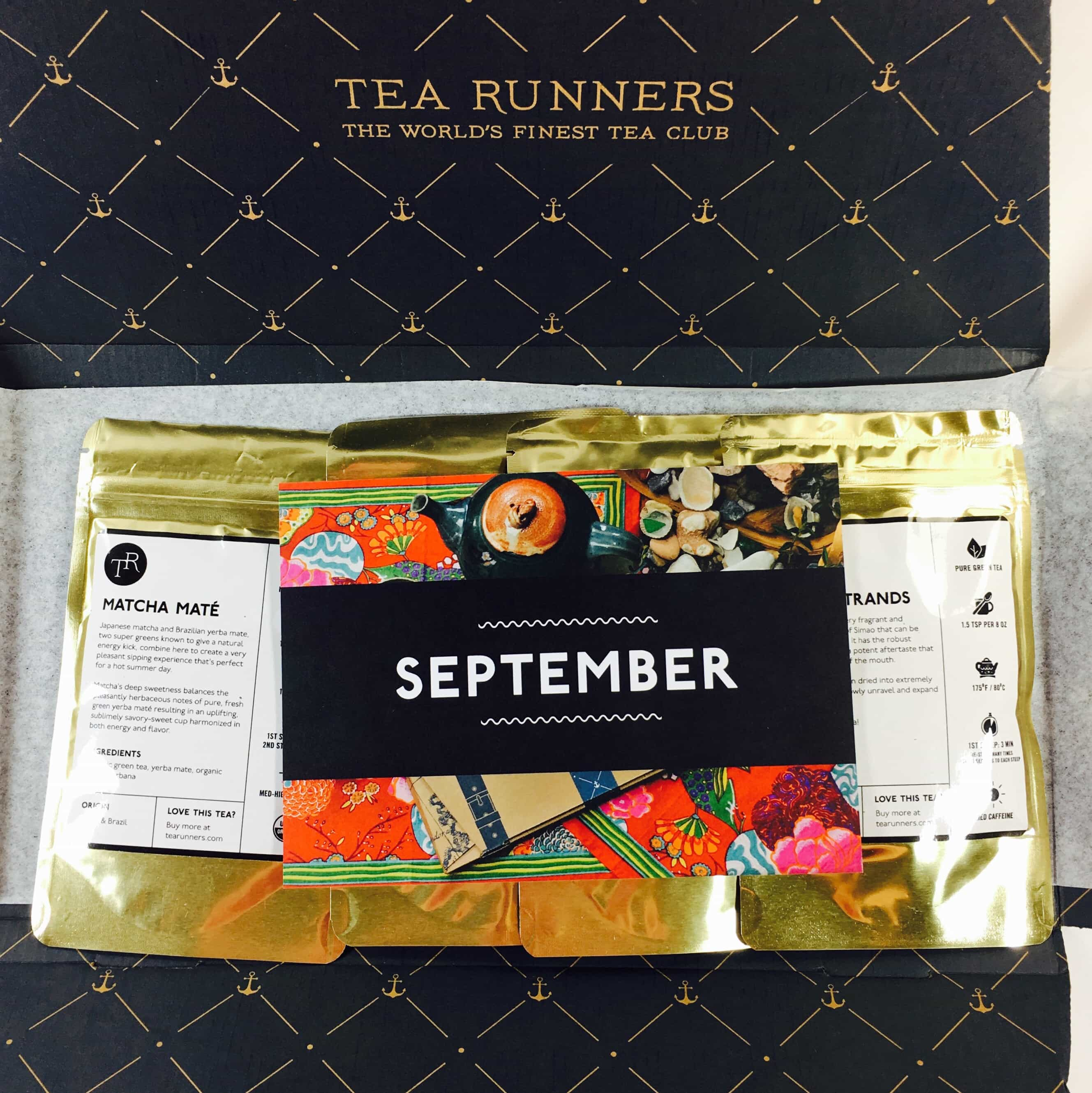 Tea Runners September 2017 Subscription Box Review