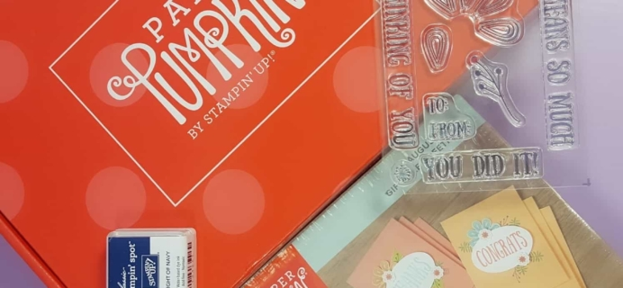 Paper Pumpkin August 2017 Subscription Box Review + Coupon