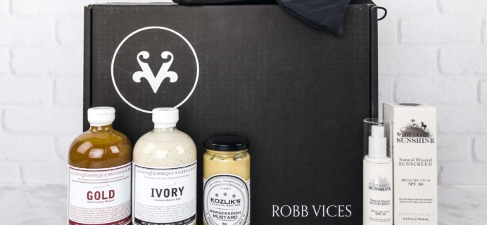 Robb Vices September 2017 Subscription Box Review + Coupon