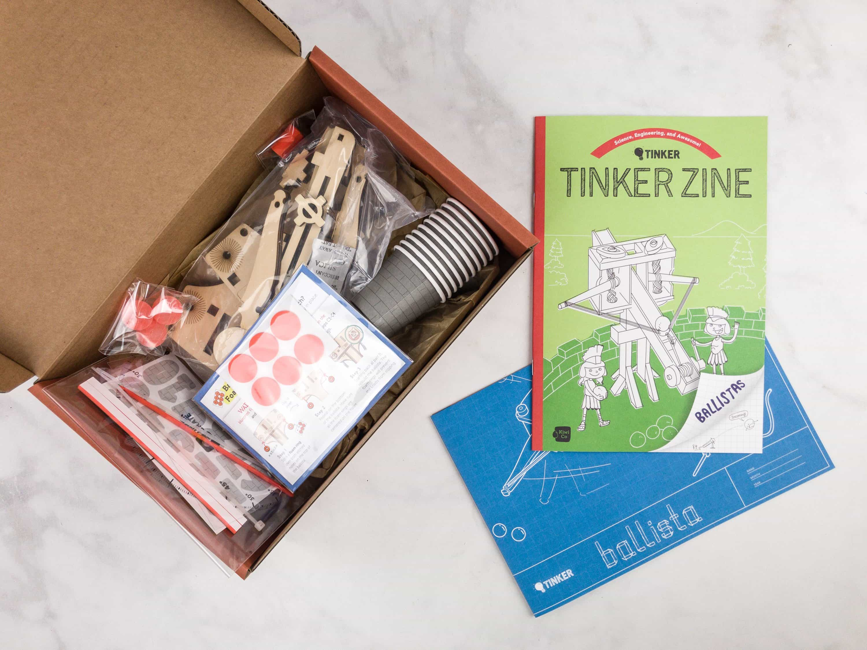 Tinker Crate September 2017 Review & Coupon – BALLISTAS