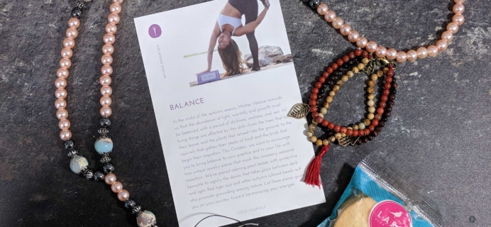 Yogi Surprise Jewelry Box Subscription Review – October 2017