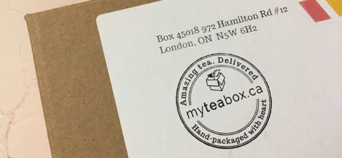 MyTeaBox October 2017 Subscription Box Review