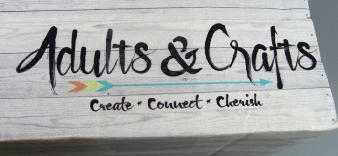 Adults & Crafts December 2017 Subscription Box Review + Coupon!