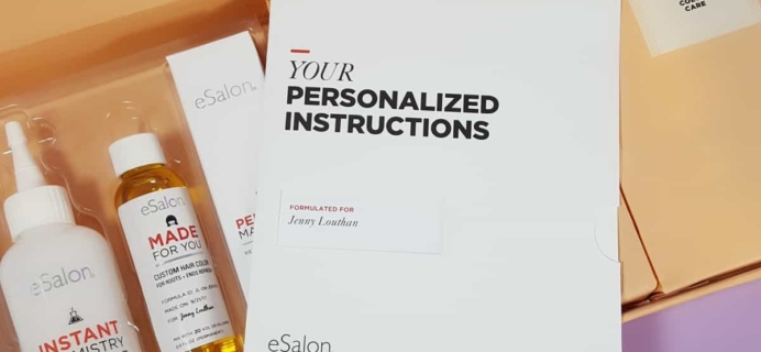 October 2017 eSalon Custom Hair Color Subscription Review + Coupon